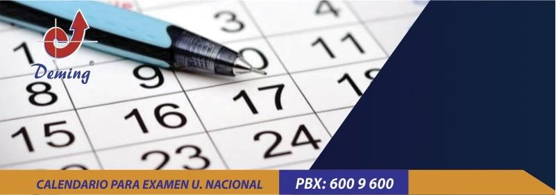 calendario para examen u nacional